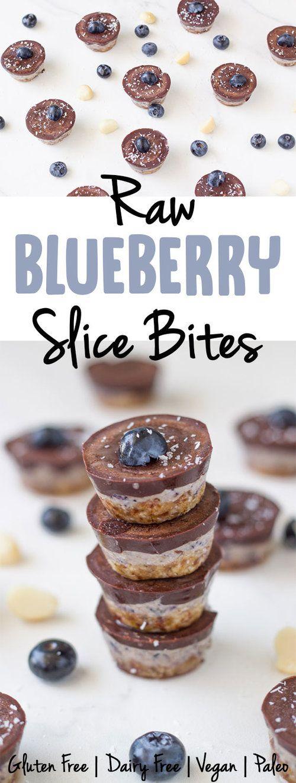 Raw Blueberry Slice Bites | Becomingness
