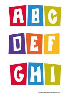 Letras pocoyo para imprimir