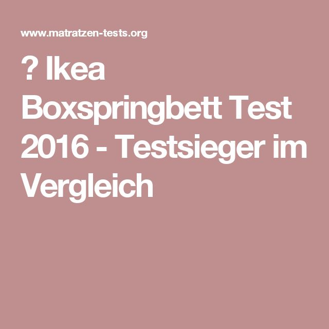 Best 25+ Boxspringbett test ideas on Pinterest Food design, Food - boxspringbetten vor nachteile gut schlafen