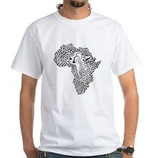 Africa in a cheetah camouflage Shirt