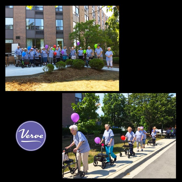 Residents at Metcalfe Gardens had a blast at the kick off of our new Go 4 Life Walking Program! #VerveSeniorLiving #VibrantSeniors