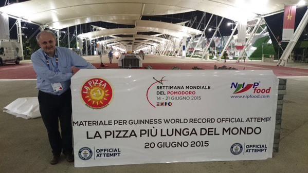 #pizza #record #2015 #Milan #Italy