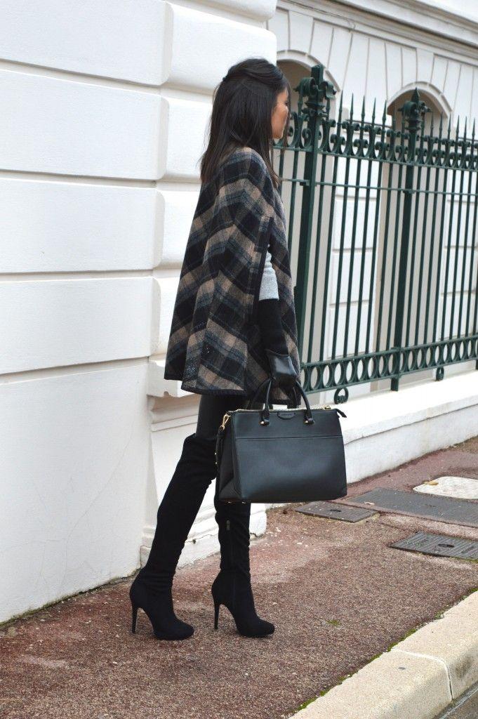 nouveau blog mode cape à carreaux zara tendance hiver 2015 cuissardes en daim talons leggings pantalon en similicuir cuir h&m: nouveau blog mode cape à carreaux zara tendance hiver 2015 cuissardes en daim talons leggings pantalon en similicuir cuir h&m