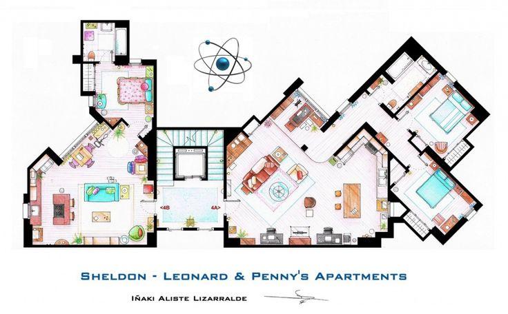 Vi sembra di esserci già entrati? Lo avete fatto, almeno con la mente: un designer spagnolo si è divertito a ricreare le planimetrie degli appartamenti più celebri di piccolo e grande schermo. Rispettando arredi, colori e proporzioni.