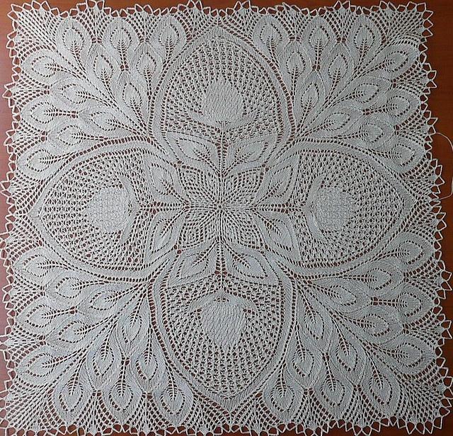lace knit square INSPIRATION