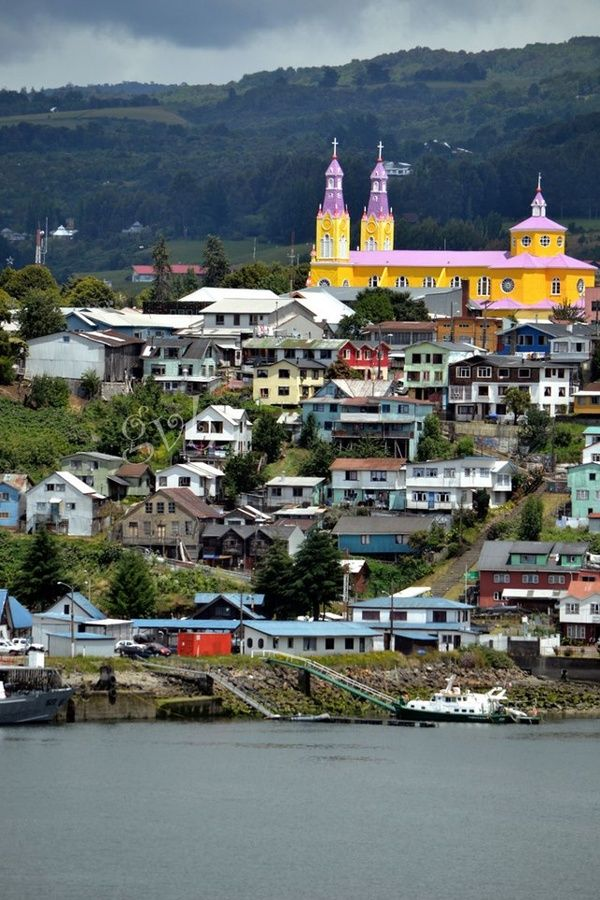 Castro, Chiloe Island South of Chile