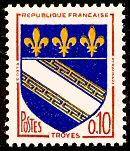 Armoiries de Troyes Armoiries des villes de France (Septième série) - Timbre de 1963