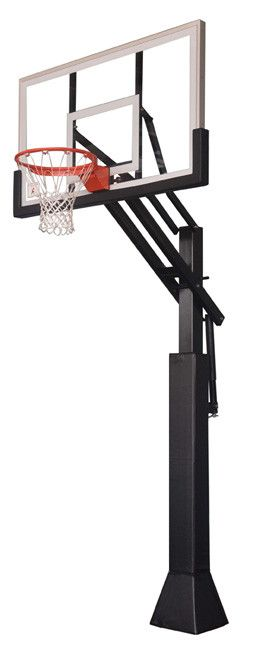 Ironclad Sports Game Changer In Ground Outdoor Adjustable Basketball Hoop 60 inch Tempered Glass from NJ Swingsets