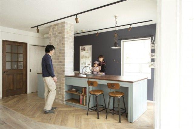 理想のキッチン はアイランド型で シンクは2方向から使える 可動式
