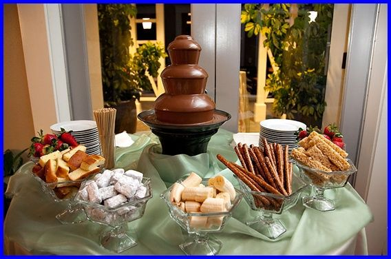 Best 79 Chocolate Fountain Set-Up Ideas ideas on Pinterest | Chocolate fountains Belgian style and Chocolate fondue : chocolate fountain table set up - pezcame.com