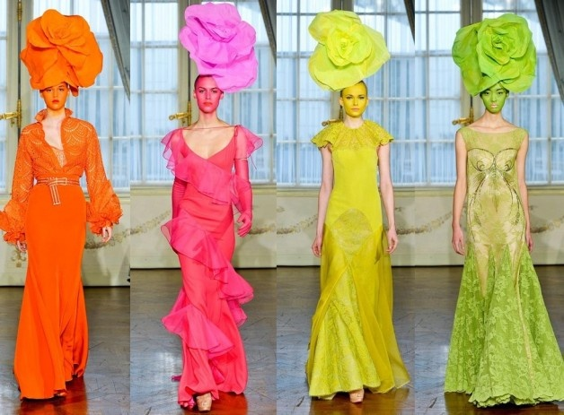 Alexis Mabille and a touch of colour #fashion #love #colour #dresses #amazing