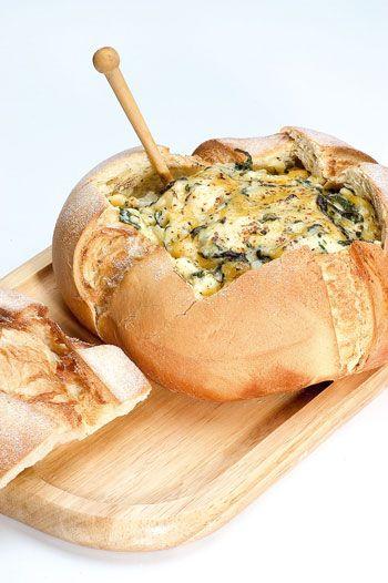 Dip de espinacas con queso parmesano - Recetas