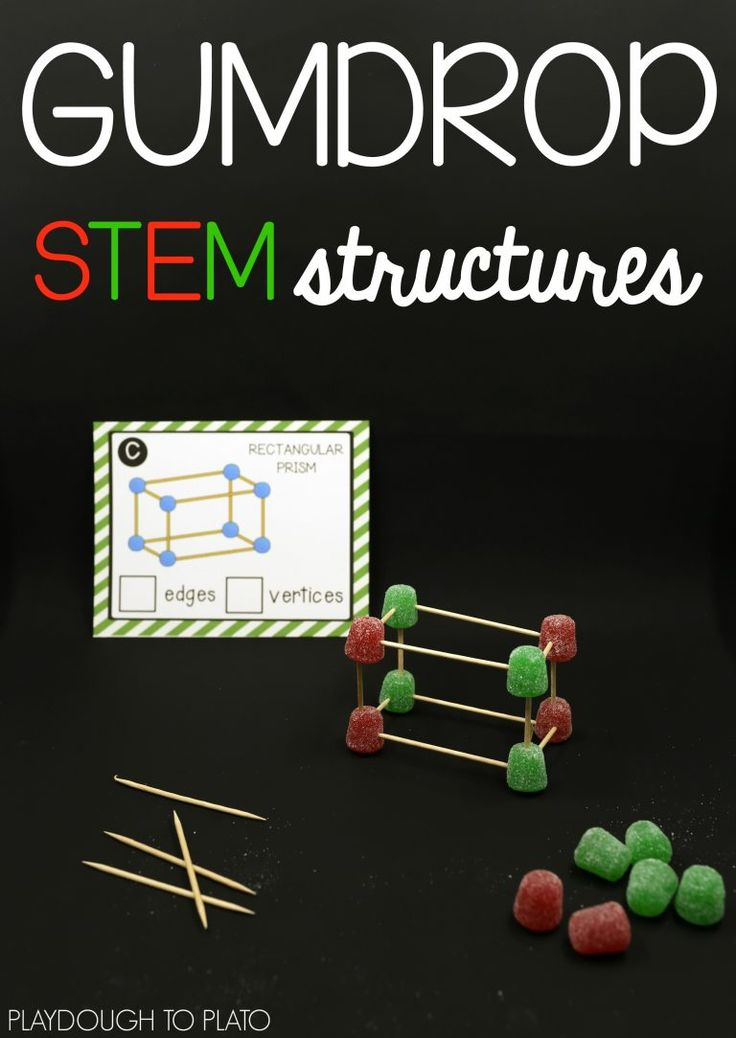 Toothpick and gumdrop STEM structures! Awesome STEM activity for the holidays. You could swap out the gumdrops for jellybeans in the spring too!