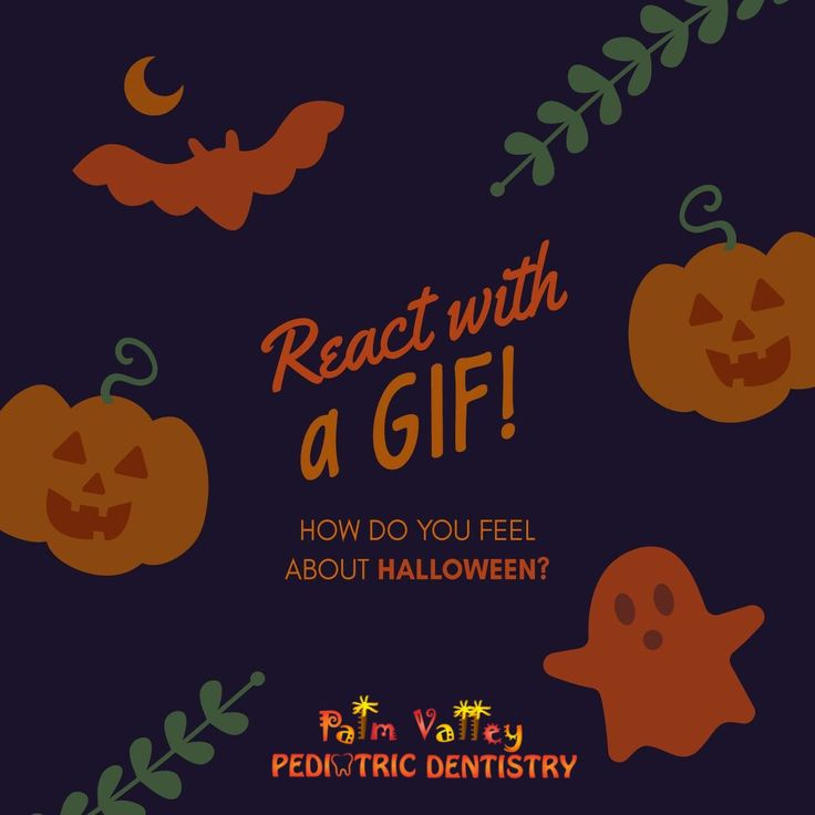 HALLOWEEN IS COMING up! Show us how you feel by posting a gif in the comments, and you'll have a chance to win a spooky prize!  PVPD - Palm Valley Pediatric Dentistry  http://pvpd.com   #pvpd #kid #children #baby #smile #dentist #pediatricdentist #goodyear #avondale #surprise #phoenix #litchfieldpark #PalmValleyPediatricDentistry #verrado #dentalcare #pch #nocavityclub #no2thdk #NOvsMIA #CatalanReferendum #October1st #SundayMorning #CheerSomeoneUpBy #ExtremeRules #love #beautiful