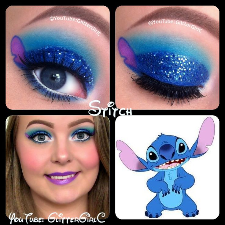 "Hi darlings! <3 This look is inspired by Stitch from ""Lilo and Stitch"" :D I hope you like it! <3   Video Tutorial:   I'm a stitch lover and this is a cute idea."