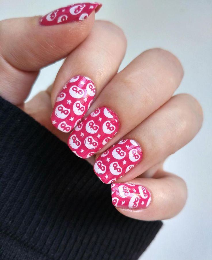 Pink Owls Nail Art!