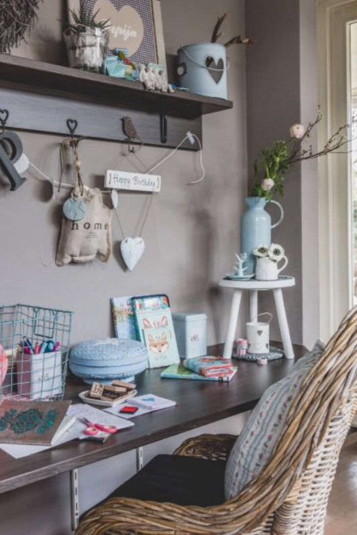 "This charming workspace is from our feature ""Dare to Dream"""