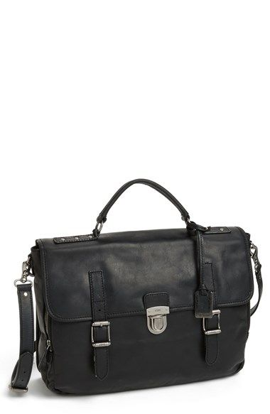 Frye 'Logan' Leather Buckle Briefcase available at #Nordstrom
