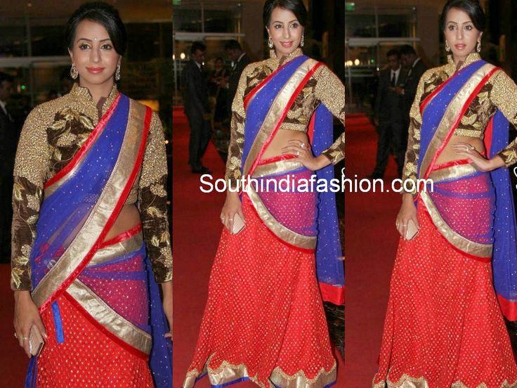 sanjana en medio sari