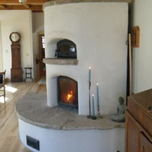 Round Stucco Heater - Maine Wood Heat