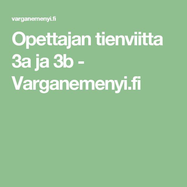 Opettajan tienviitta 3a ja 3b - Varganemenyi.fi