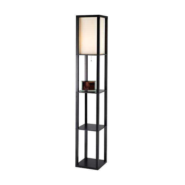 I like the combination lamp/shelf. Washi Floor Lamp | dotandbo.com