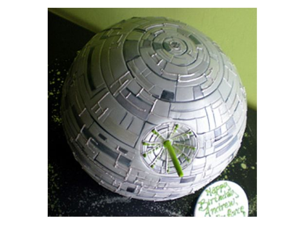 how to make a death star cake topper