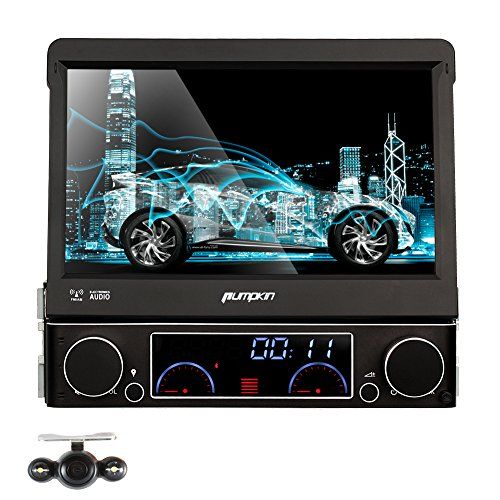 Special Offers - Pumpkin Universal Single Din In Dash DVD/MP3/CD AM/FM Receiver Car DVD Player GPS with 7 inch Detachable Touchscreen Backup Camera Included - In stock & Free Shipping. You can save more money! Check It (June 22 2016 at 01:34PM) >> http://wbluetoothspeaker.net/pumpkin-universal-single-din-in-dash-dvdmp3cd-amfm-receiver-car-dvd-player-gps-with-7-inch-detachable-touchscreen-backup-camera-included/