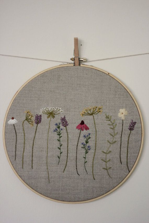 Botanical Embroidery Hoop Art by JuniperandBerry on Etsy