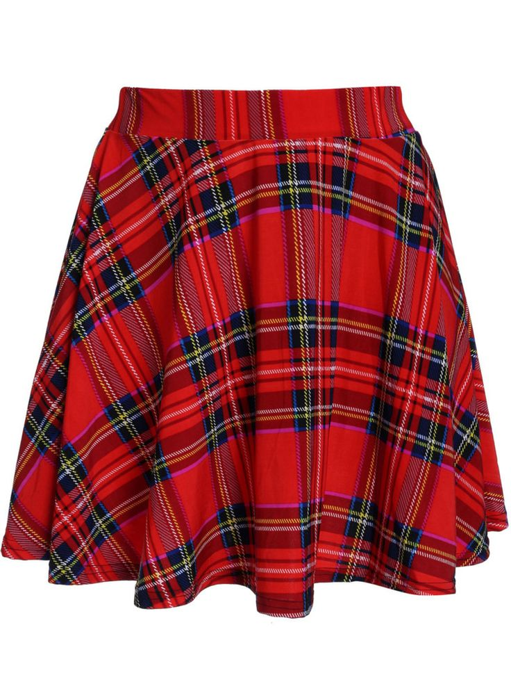 Retro delgado de la tela escocesa roja con pliegues mujeres de ...