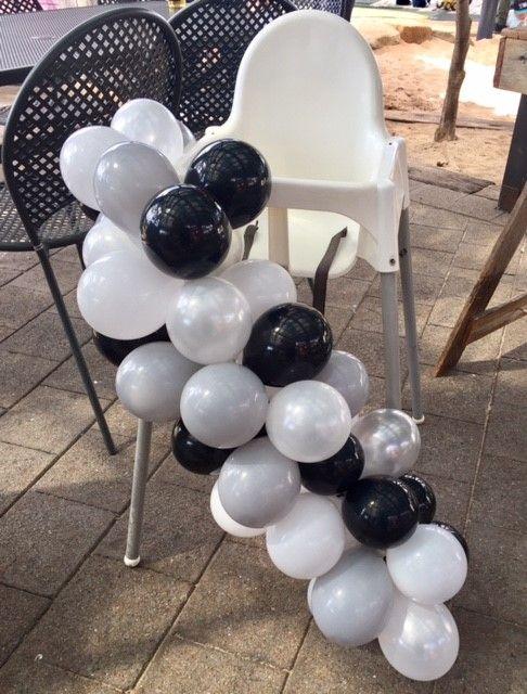 First Birthday Highchair Balloon Garland