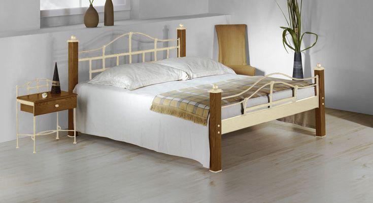 metallbett im landhausstil aus eiche 180x200 cm sinja bett
