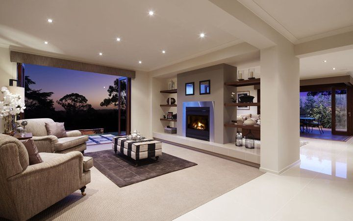 lounge room on the other side of the fireplace . OMG