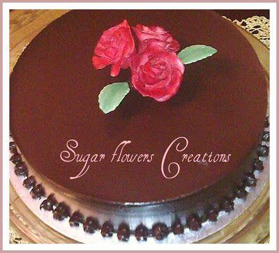 Sugar flowers Creations-Nicky Lamprinou: Κλασικό Αμερικάνικο Layer cake