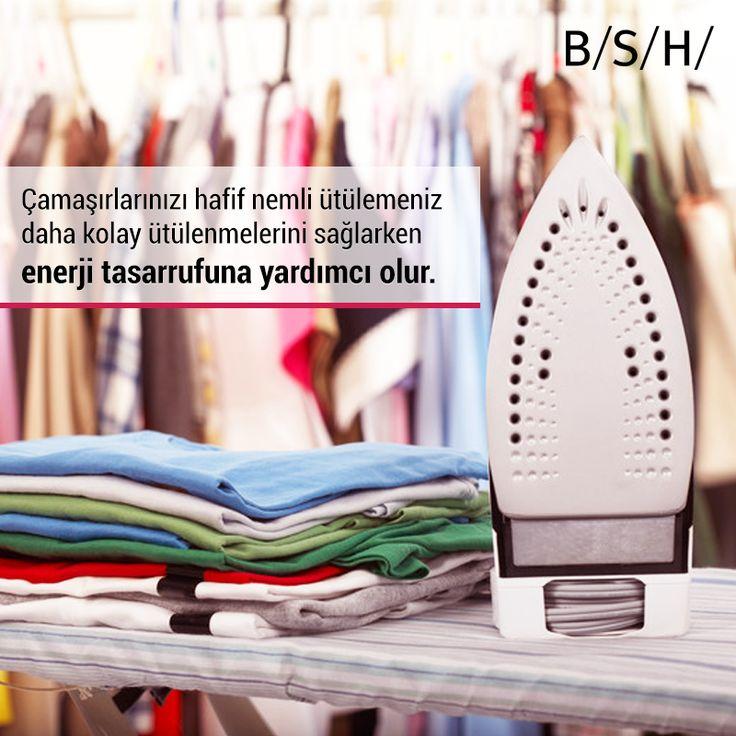 Çamaşırlarınızı hafif nemli ütülemeniz daha kolay ütülenmelerini sağlarken enerji tasarrufunu da yardımcı olur. #BSH #EnerjiTasarrufu #Surdurulebilirlik #BSH #enerji #surdurulebilirlik #inovasyon #enerjitasarrufu #teknoloji #arge #verimlilik