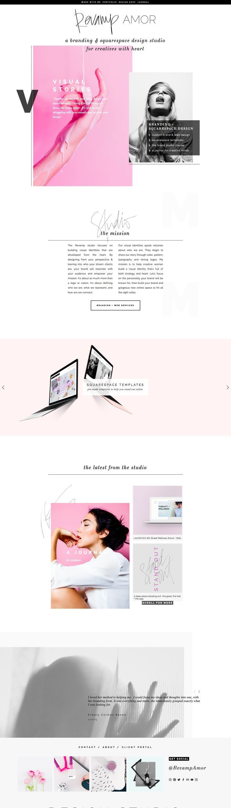 squarespace web design for bloggers and entrepreneurs. custom branding and design for modern, feminine and creative thinkers