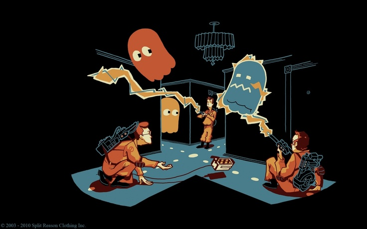 Ghostbusters Pacman Video Game By Glen Brogan