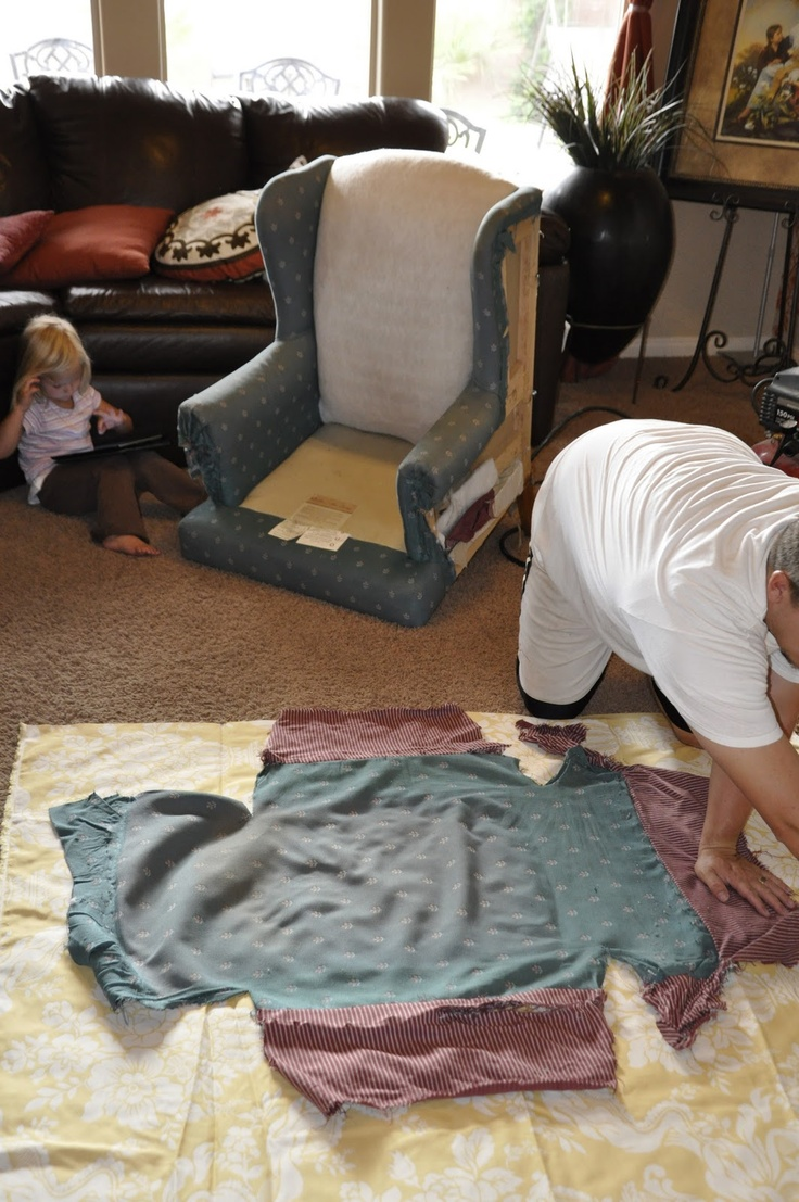 Upholstering a Wing Back Chair Upholstery Tips  DIY