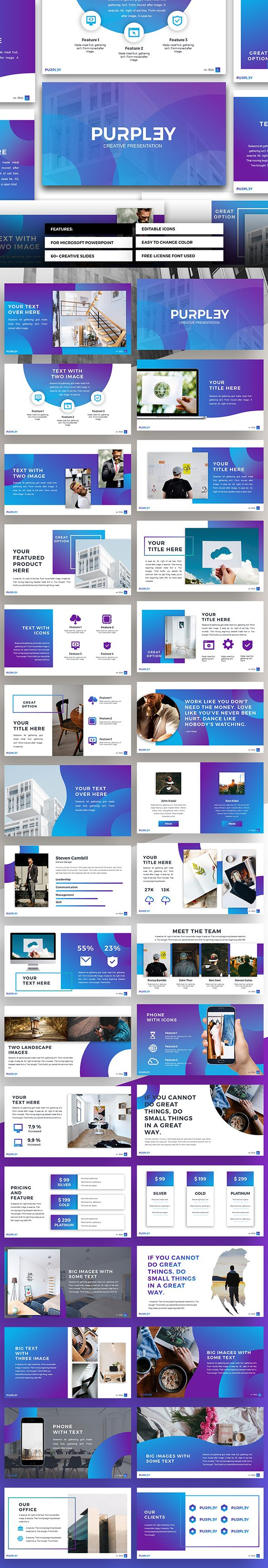 Purpley #Powerpoint - PowerPoint Templates #Presentation Templates