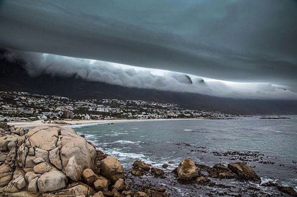 "Check out more sweet pics like these, who made them, and the stories behind them: instagram.com/capetownmag. Are you on Instagram? Tag one of your great pics with#CapeTownMag and we might just feature your image. The picture of the week for the winning #capetownmag feature!  ""How insane is this cloud rolling into Cape Town at the moment!"" featuring @mijlof"