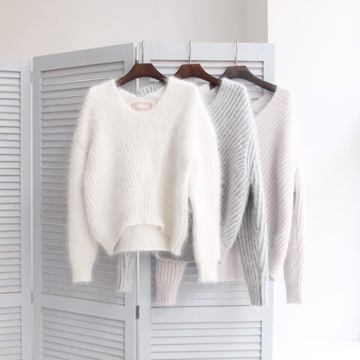 Доброе утро, девочки На фото: •свитер крупной вязки из ангоры укорочённый #12Storeez 8.800p. Артикул #8444467 Цвета: темно-коричневый, белый,темно-бежевый