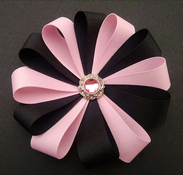 Pink Flower Hairbow Girls Hairbow by GloriaMillerCreation on Etsy