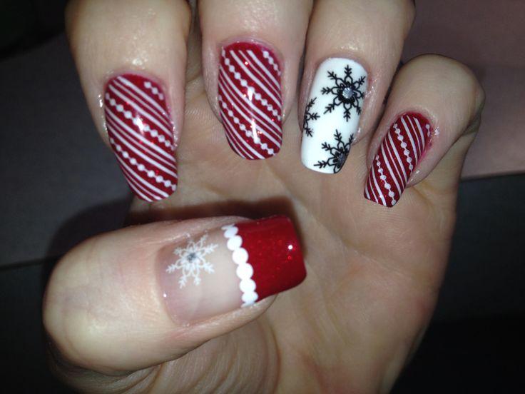 Christmas finger nails 2013