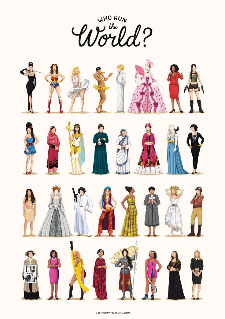 Who Run the World Music Poster, The Future is Female Print, Girlboss Gift for Her, Fun Pop Art Wall Art, Girl Power Gift, Feminism Art Print