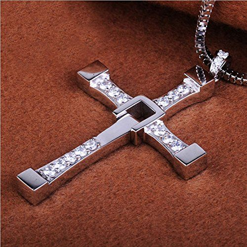 Jewelry Necklace - YiaMia(TM) 925 Sterling Silver Fast & Furious 7 Rotatable Crystal Toretto's Cross Chain Necklace for Men Birthday Gifts - 925 Sterling Silver Cross Necklace Fast & Furious Toretto's Cross Chain Silver Necklace for Men 1.100% brand new, pure silver. The bottom of the necklace can rotate. 2.Vin Diesel Style, Fast and Furious Dominic Toretto's Cross Necklace. 3.Hinged Broken Effect Cross With Inlaid... - http://ehowsuperstore.com/bestbrands