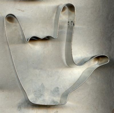 I love you -sign language cookie cutter