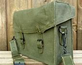 Vintage Military Messenger Bag. $49.00, via Etsy.