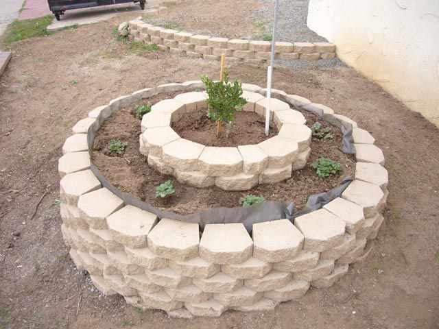 Water Garden For Retaining Ring : Best retaining wall around trees images on pinterest