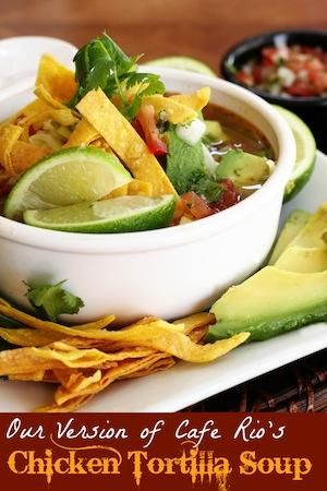 Chicken Tortilla Soup. Slow cooker version pinned for slow cooker direction/times