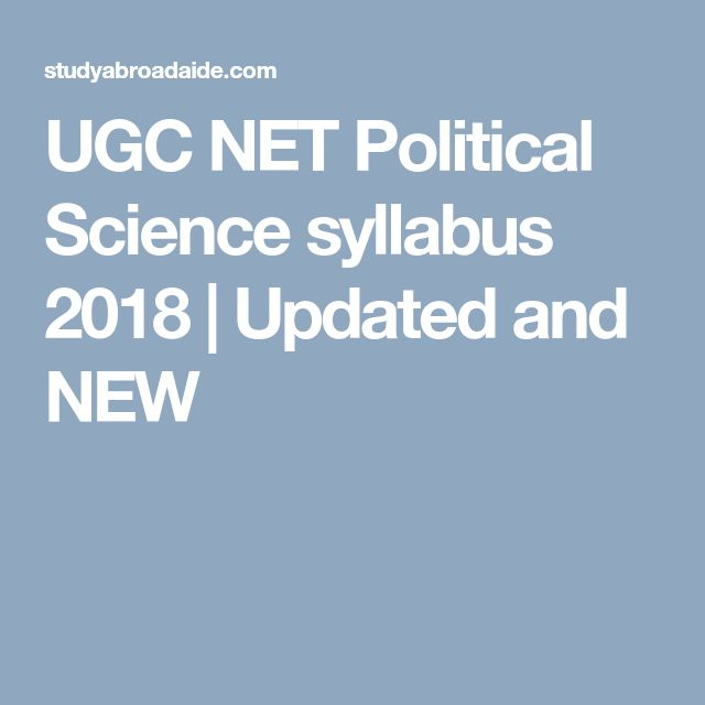 16 best sarkari naukari india images on pinterest ugc net political science syllabus 2018 fandeluxe Gallery